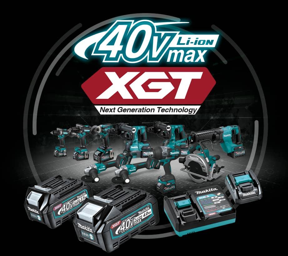 Linha de Ferramentas a Bateria 40V XGT da Makita
